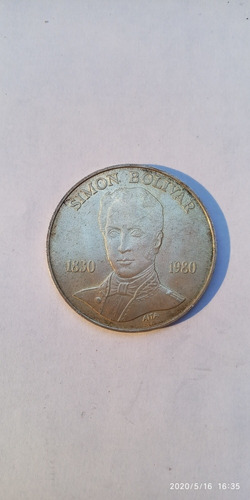 Moneda De 100bs Simón Bolívar 150 Años De Fallecimiento