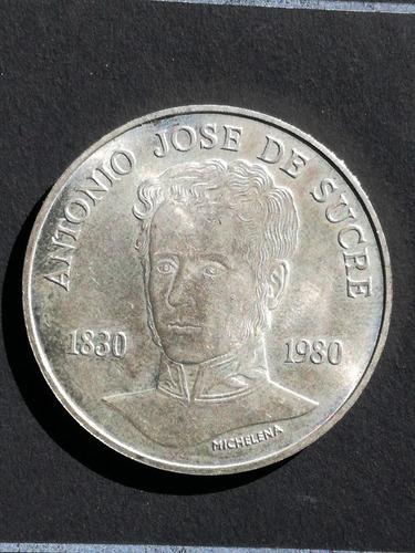 Moneda De Plata 75 Bolivares  Antonio Jose De Sucre.