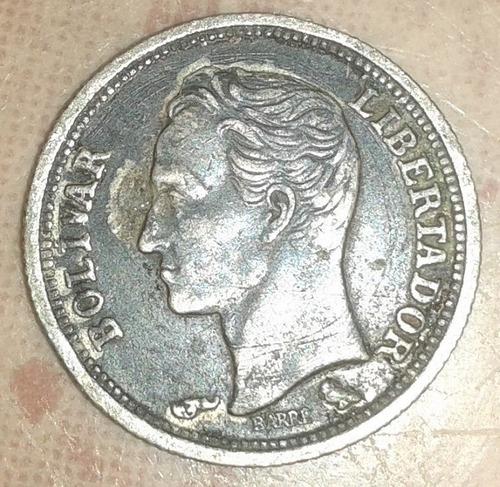 Moneda De Plata De 25 Centimos Del Año  Colección