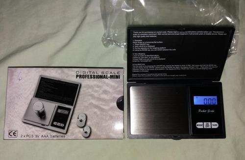 Balanza Digital Portable Gramera De 0,01g A 500g