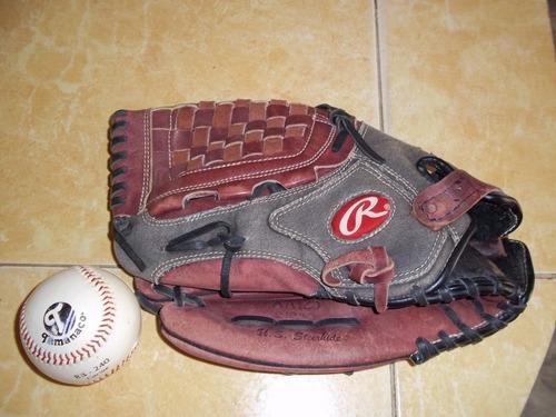 Guante De Beisbol Rawling (zurdo) Y Pelota Tamanaco.