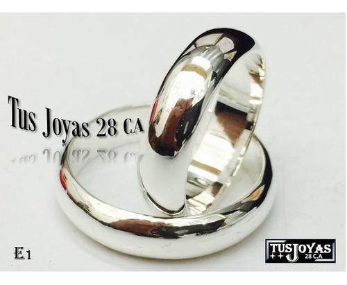 Anillos De Matrimonio Plata 925 Aros De Boda Plata 925 E
