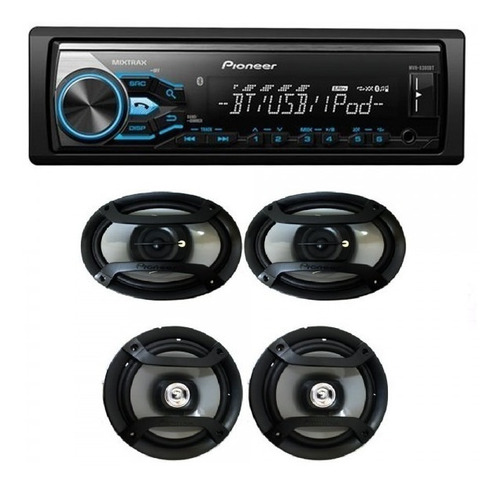 Combo Pioneer Mxt-xbt Bluetooth/usb/aux +4 Parlantes