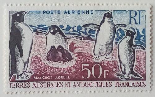 Estampilla De La Antartica Francesa. Colonia Francesa. .