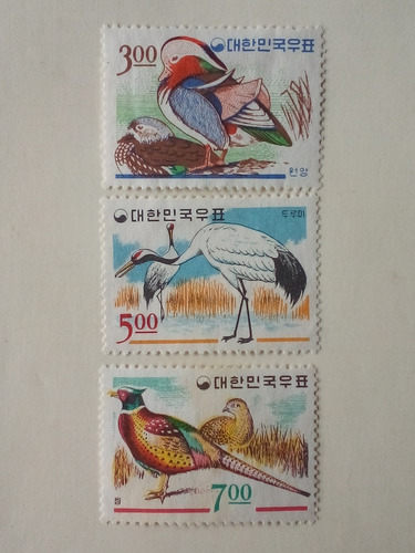 Estampillas Corea Del Sur. Serie: Aves, .