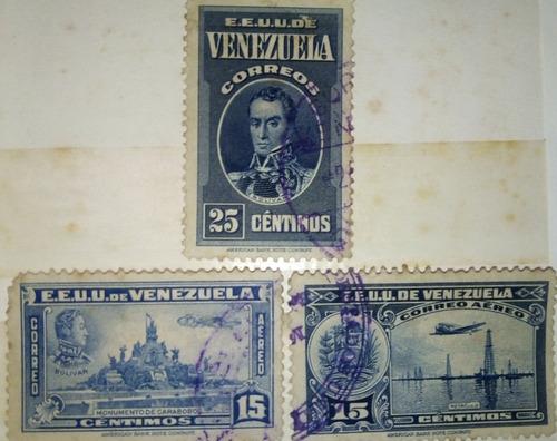 Estampillas De Eeuu De Venezuela, Primer Centenario Correo