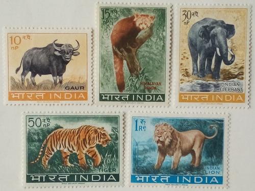 Estampillas De India. Serie: Protección A La