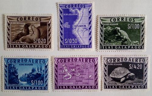 Estampillas De Las Islas Galapagos. Ecuador. . Muy Raras