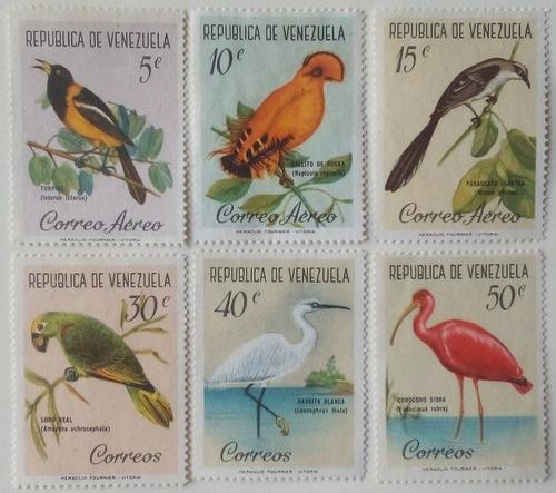 Estampillas De Venezuela. Serie Aves. .