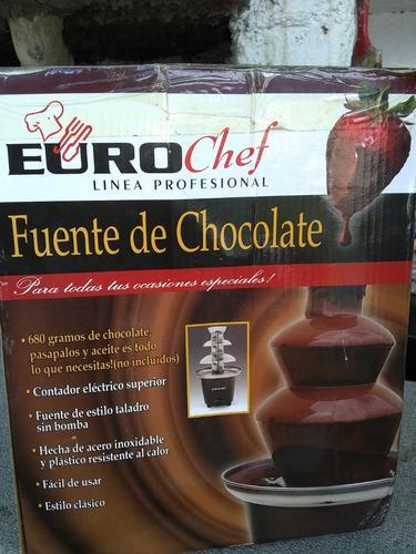 Fuente De Chocolate Euro Chef Usada