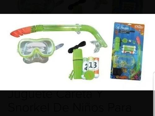 Set Playero De Careta Con Snorkel Ecology Para Niños