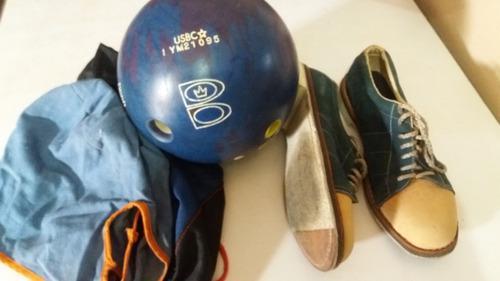 Bola De Bowling 16lbs + Zapatos Talla 41 Con Sus Bolsos