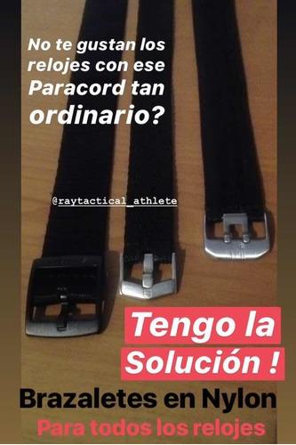 Brazaletes Correa Reloj Nylon Negro Tejido