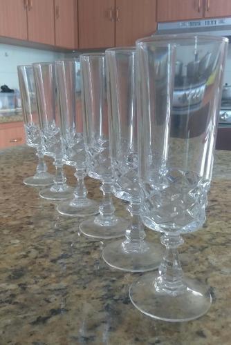 Copas De Cristal De Bohemia Tallado (6 Unidades)
