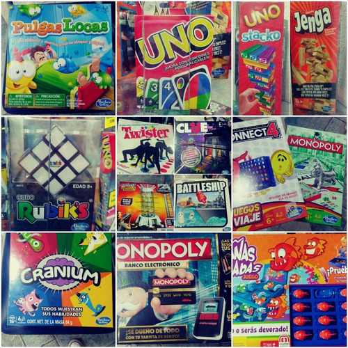 Juegos De Mesa Monopolio, Twister, Adivina Quien, Jenga, Uno