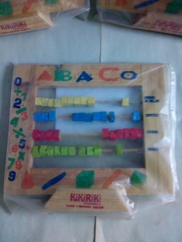 Juegos Didacticos De Madera Abaco+juego De Numeros