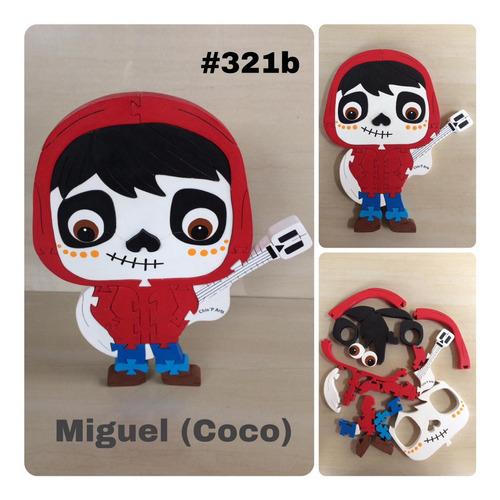 Muñecos En Mdf, Rompecabezas De Los Personajes De Coco