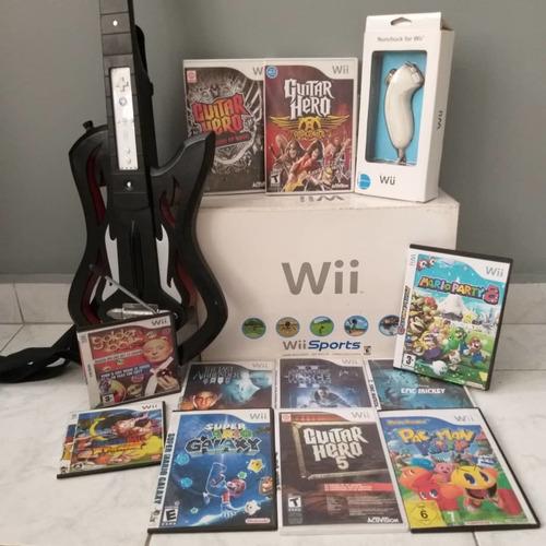 Nintendo Wii Con Guitar Hero. En 60 Verdes.