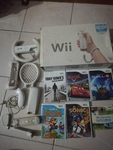 Nintendo Wii Original, Con Un Control Y Juegos.