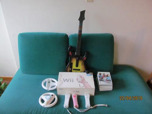 Nintendo Wii Sports Blanco Con Accesorios