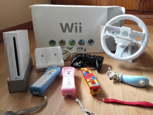 Wii Original +3 Controles +accesorios Originales + Juegos