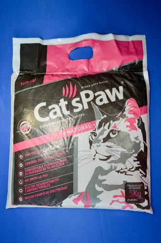 Arena Para Gatos Cats Paw Bolsa 5kg Mascotas Animales