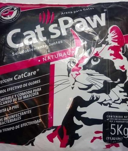 Arena Para Gatos Marca Cats Paw 5 Kg.