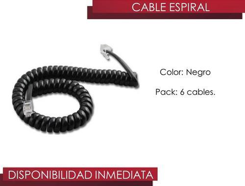 Cable Espiral Para Telefonos Fijos, Color Negro