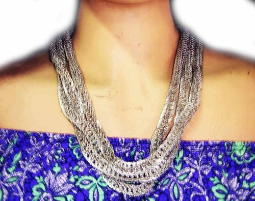 Collar Exclusivo De 1metro 80cm. Tejido Especial--vintag
