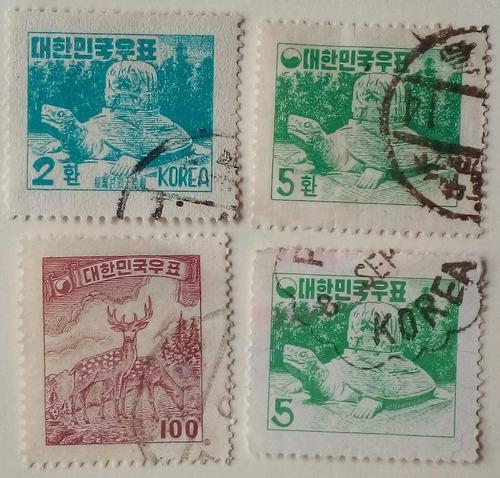Estampillas De Corea Del Sur. Series Varias Años 50´s.