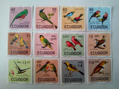 Estampillas De Ecuador. Serie: Pájaros. 1966.