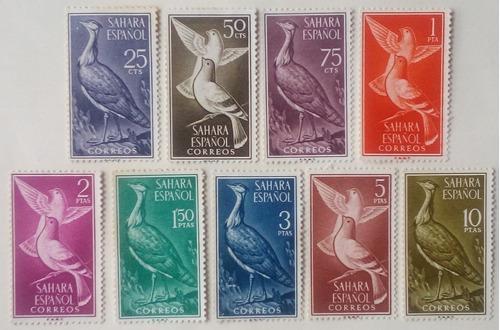 Estampillas De España. Sáhara Español. Serie: Aves, 1961.