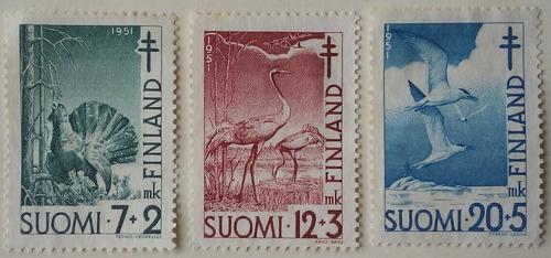 Estampillas De Finlandia. S/ Lucha Contra Tuberculosis. 1951