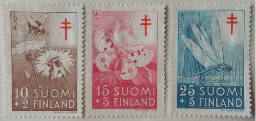 Estampillas De Finlandia. S/ Lucha Contra Tuberculosis. 1954