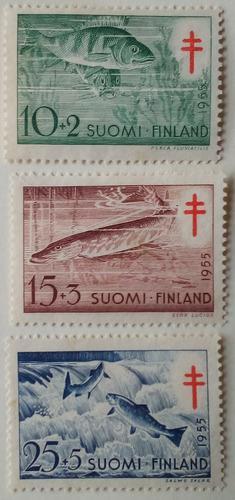 Estampillas De Finlandia. S/ Lucha Contra Tuberculosis, 1955