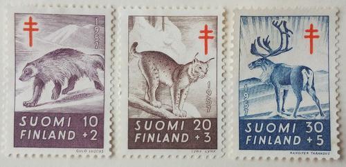 Estampillas De Finlandia. S/ Lucha Contra Tuberculosis. 1957