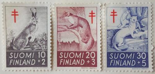 Estampillas De Finlandia. S/ Lucha Contra Tuberculosis. 1962