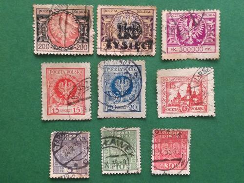 Estampillas De Polonia, Series Variadas, Años 20s Y 30s