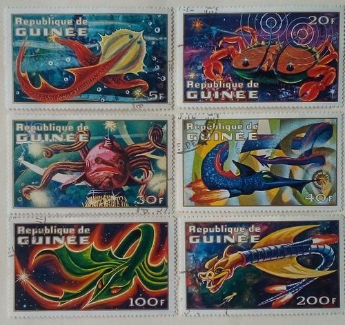 Estampillas De República De Guinea. S/criaturas Del