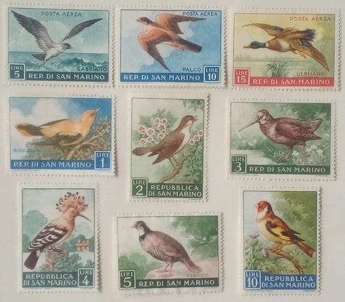 Estampillas De San Marino. 2 Series. Aves. Años 1959 Y