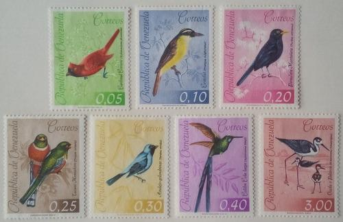 Estampillas De Venezuela. Serie Aves, Correo Ordinario. 1962
