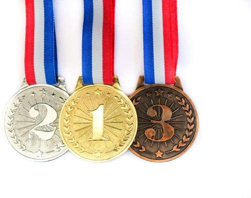 Medallas Deportivas Competencia Oro, Plata, Bronze Premios