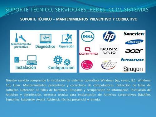 Servicio Tecnico Computadoras, Servidores, Redes, Cctv