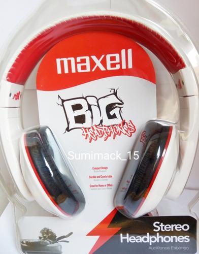 Audífonos Maxell Big Color Rojo Y Blanco