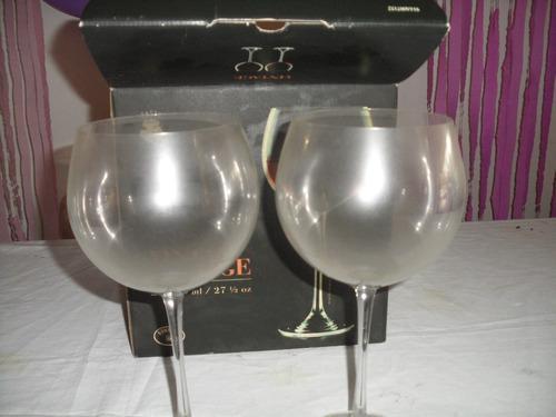 Duo De Copas De Cristal De Bohemia
