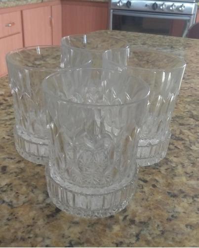 Juego De Vasos Con Porta Vasos De Cristal De Bomehia Tallada