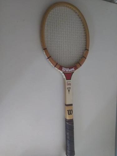 Raqueta De Tenis De Madera Wilson Coleccion Vintage