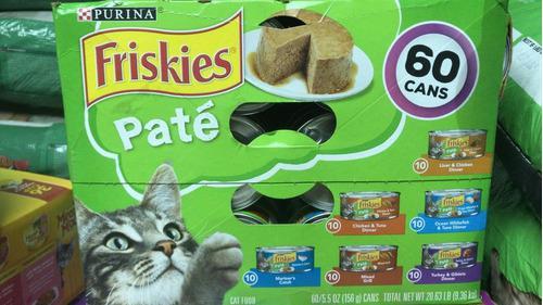 Alimento Enlatado Para Gatos Friskies Caja Paté 60 Piezas