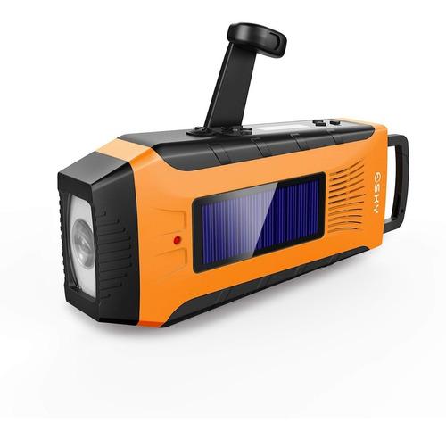 Linterna Solar De Emergencia Con Usb Power Bank Y Radio