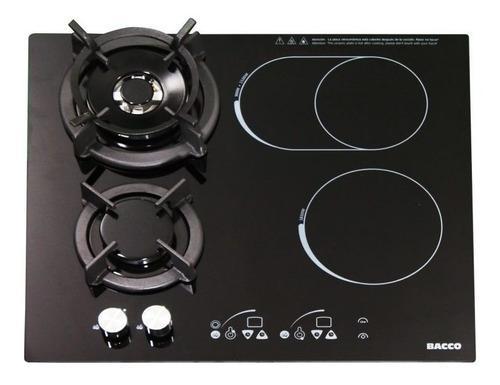 Tope De Cocina Dual Eléctrica Y A Gas Bacco 60cm